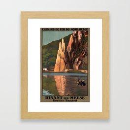 cartellone Dinant sur Meuse Framed Art Print