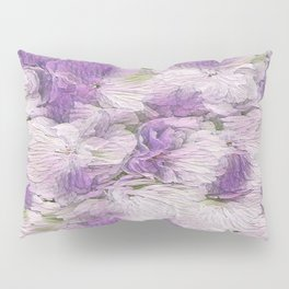 Purple - Lavender Fluffy Floral Abstract Pillow Sham