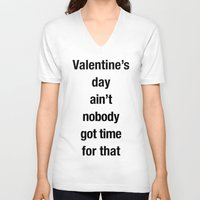 valentines V-neck T-shirts featuring Valentines by loveme