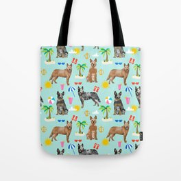 Australian Cattle Dog beach tropical pet friendly dog breed dog pattern art Tote Bag
