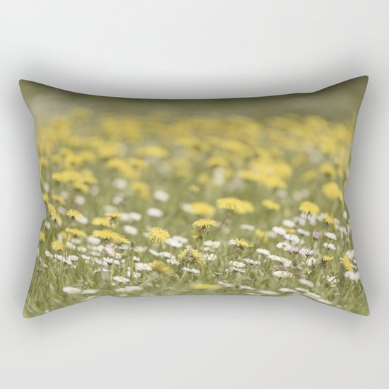 Meadow of happyness Spring flowers - Flower floral #Society6 Rectangular Pillow