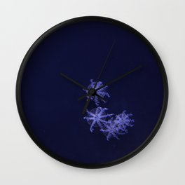 Purple Jellyfish Water Creature Color Photograph Wall Clock