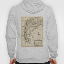Vintage Map of Chile and Argentina (1732) Hoody