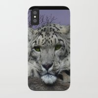snow leopard iPhone & iPod Cases featuring Snow Leopard by SwanniePhotoArt