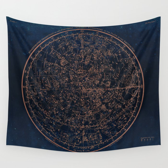constellations of the northern hemisphere wall tapestry by