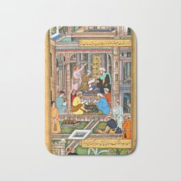 Writing the will and testament of the Mughal King Bath Mat