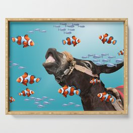Tropical Clownfish Donkey Underwater Serving Tray