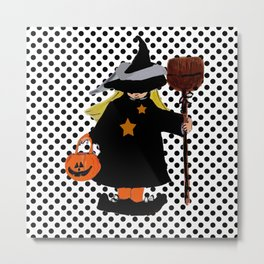 My Little Witch, Halloween Costume Metal Print