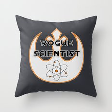 Rogue Scientist Throw Pillow