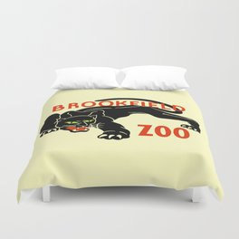 Black panther Brookfield Zoo ad Duvet Cover