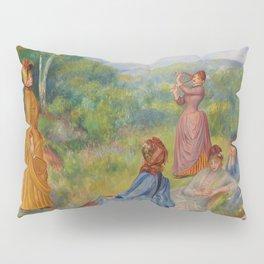 """Auguste Renoir """"Jeunes filles jouant au volant"""" Pillow Sham"""