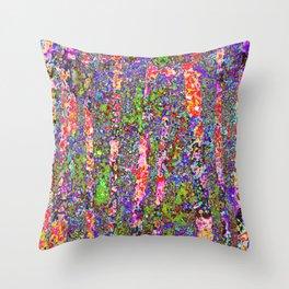 Purple Chaos Throw Pillow