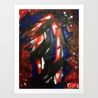 rave Art Prints featuring Rave by Myles Hunt