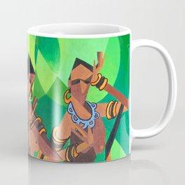 Three Ethnic Traditional Black Women Dancing Coffee Mug