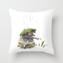 Spring Seed Story Throw Pillow