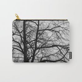 Black white tree Carry-All Pouch