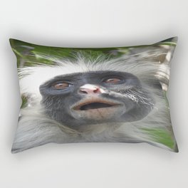 Red Colobus Monkey Rectangular Pillow
