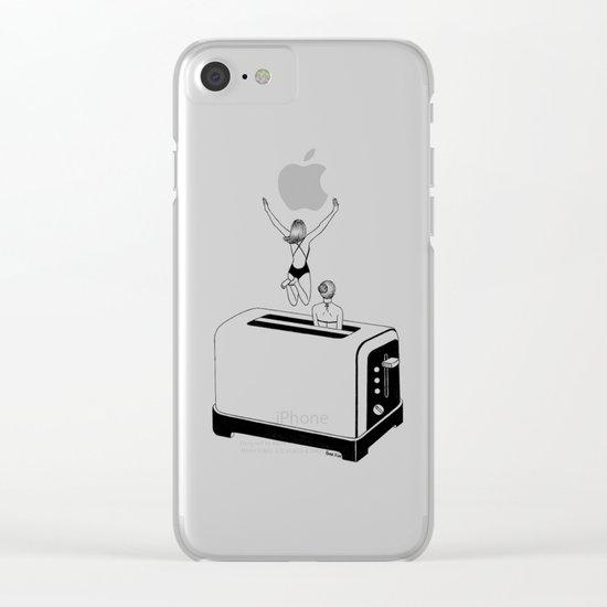 1 Minute Tan Clear iPhone Case