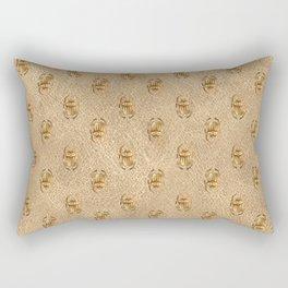 Gold Egyptian Design Pattern Rectangular Pillow