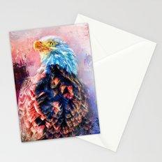 Jazzy Bald Eagle Colorful Bird Art by Jai Johnson Stationery Cards