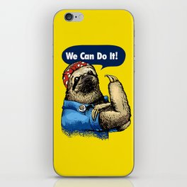 We Can Do It Sloth iPhone Skin