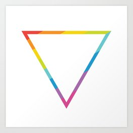 Pride: Rainbow Geometric Triangle Art Print