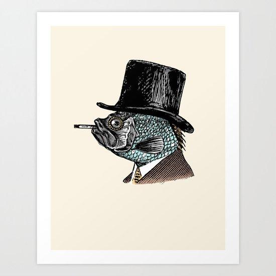 Mr. Fish Art Print