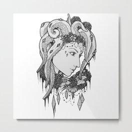 Octopus hair Metal Print
