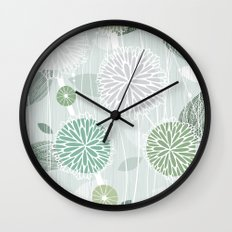 Abstract Floral by Friztin Wall Clock