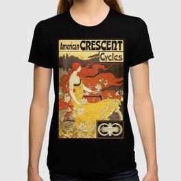 Vintage American art nouveau Bicycles ad T-shirt