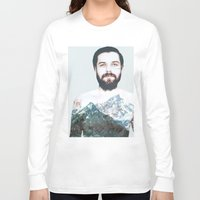 neil gaiman Long Sleeve T-shirts featuring Simon Neil Mountains by madbiffymorghulis