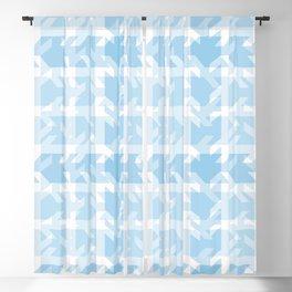 Blue Patchwork Plaid Blackout Curtain