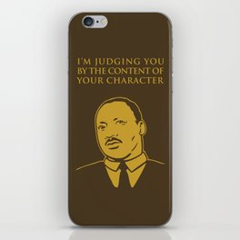 Content of Character iPhone Skin