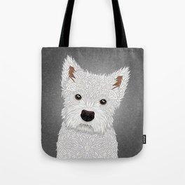 Cute West Highland Terrier Portrait Tote Bag