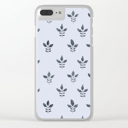 Serenity Indienne Block Print Clear iPhone Case