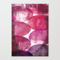 beth hoeckel Canvas Prints featuring Beth pink by FYLLAYTA, surface design,Tina Olsson