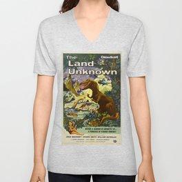 The Land Unknown, 1957 (Vintage Movie Poster) Unisex V-Neck