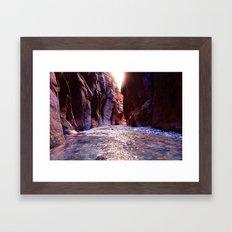 The Zion Narrows Framed Art Print