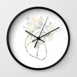 Vagabond Heart Wall Clock
