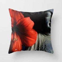 Amaryllis Buddha Throw Pillow