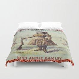 Annie Oakley Vintage Print Duvet Cover
