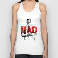 mad men Tank Tops featuring Don Draper Mad Men by Mark McKenny
