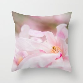 Magnolia In Blush Throw Pillow