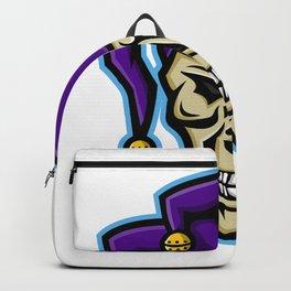 Court Jester Skull Mascot Backpack