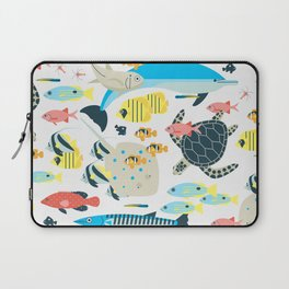 Coral reef animals Laptop Sleeve