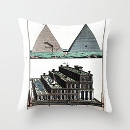 Pyramids and Floating (Suspended) Gardens of Babylon Throw Pillow