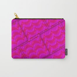 PinkStripe Carry-All Pouch