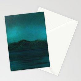 Night swim Lake Stationery Cards