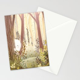 Little ghost in the woods Stationery Cards
