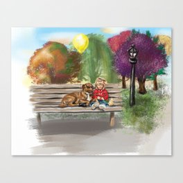 Out Shopping Canvas Print